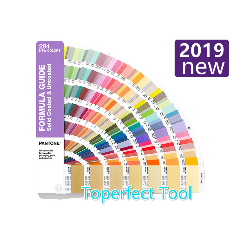 2019 New PANTONE Color Card International Standard Added 294 Color C Card U Card GP1601A-SUPL