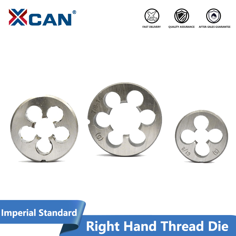 XCAN 1pc G1/4-19 G1/8-28 1/4 NC20 3/8 NC16 7/8 14UNF 1/2-28 UNEF Right Hand Thread Die Machine Screw Die