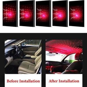 Image 5 - جو السيارة المحيطة ستار ضوء DJ عيد الميلاد الداخلية ديكور ضوء USB LED قابل للتعديل تأثيرات الإضاءة متعددة