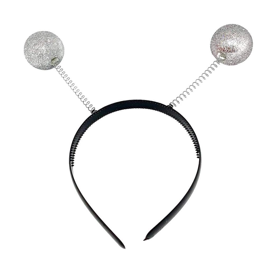 Silver Martian Alien Headband Hair Accessories Party Costume Headwear Accessory Girls Hair Accessories