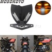 Motorcycle Tail Tidy LED Integarted Fender Eliminator Kit w/ License Plate Holder Signal Light For BMW S1000RR S1000R 2009 2014