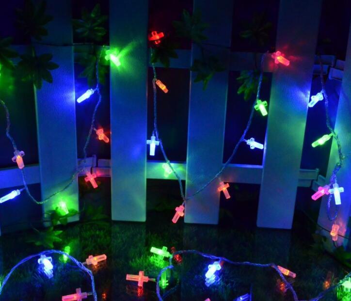 LED Flash Cross Lamp String Wedding Christmas Bedroom Decoration Lamp String Starlight 1.5m 10led