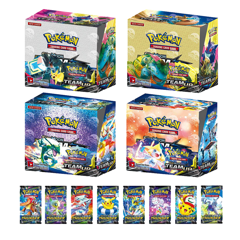 Takara Tomy Pokemon 9 108 324PCS GX EX MEGA  Flash Card Sun Moon Team Up Ultra Prism Card Collectible Gift Children Toy