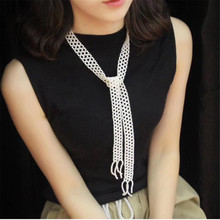 YKNRBPH Womens handmade freshwater pearl sweater chain long temperament autumn and winter waist dual purpose