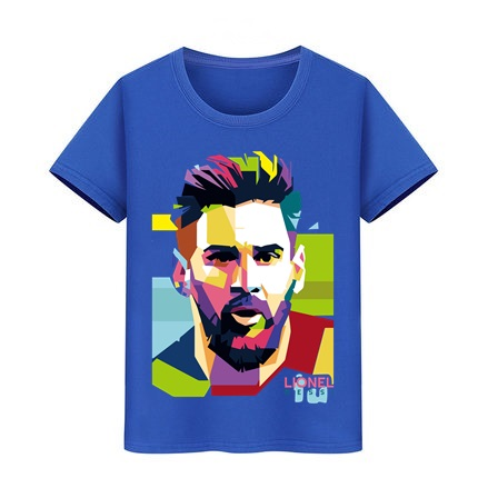 Lionel Messi T Shirt Barcelona Kids Messi T-shirt Boy Girl Pure Cotton Tshirt Top Argentina Jersey For Children Fans Tees