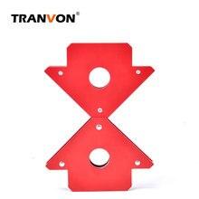 TRANVON 2 шт. Магнитный сварочный угловой держатель позиционер пайки локатор для сварки углов Магнитный сварочный магнитный держатель 25 фунтов