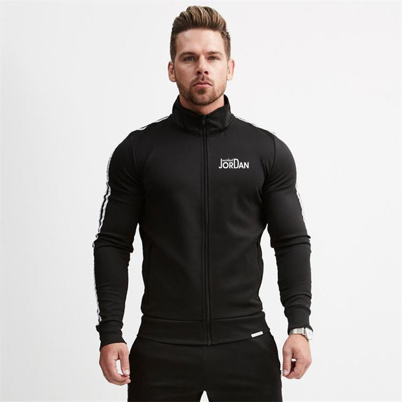 Autumn Men's Jacket + Pants Tracksuit Male Sweatshirt Casual 2 Piece Set  Men Tracksuits Solid Color JORDAN Letter Sportswear