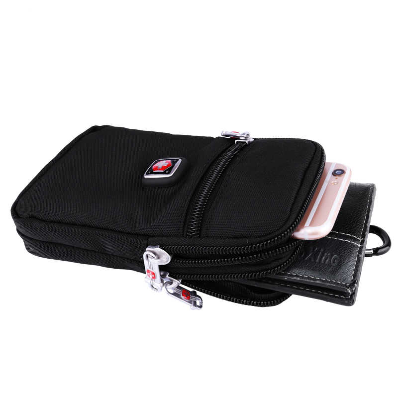 PAUKAOT hommes taille Packs ceinture sac décontracté Fanny téléphone poche sac à main Bum hanche poches fermeture éclair imperméable à l'eau verticale petits sacs pour homme