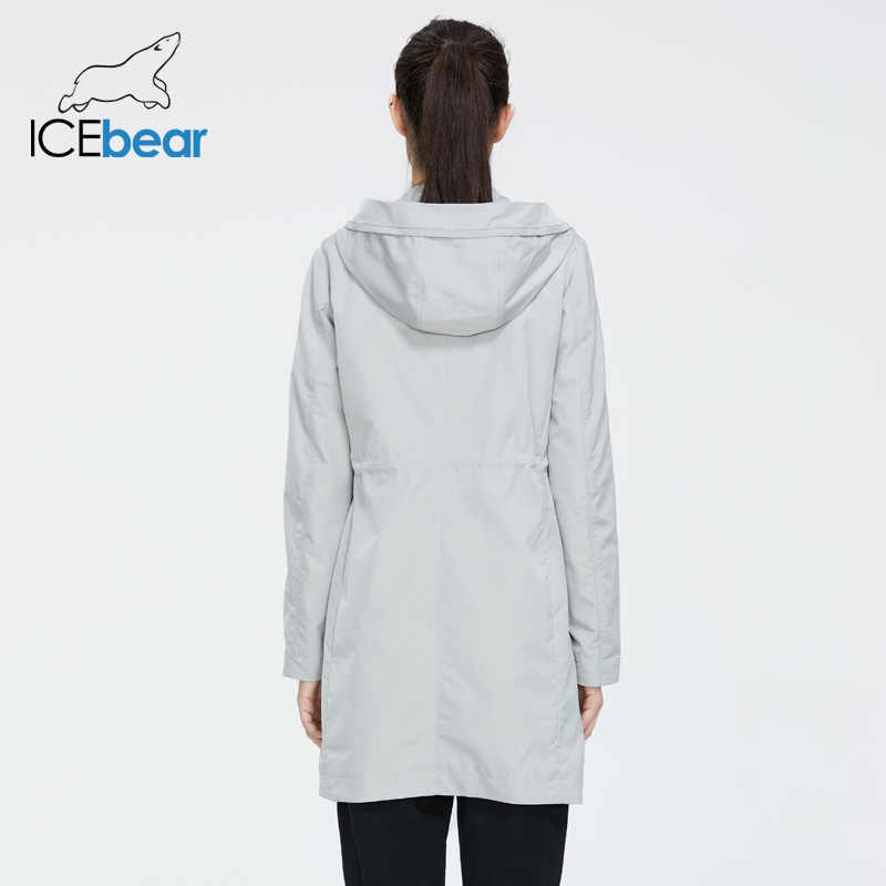 Icebear 2020 女性春ウインドブレーカー品質の女性のジャケットスタイリッシュなカジュアル女性服フード GWF20005I
