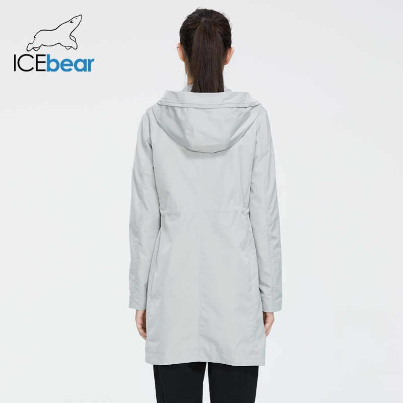 Icebear 2020 mulheres primavera blusão qualidade jaqueta feminina à moda roupas casuais com capuz gwf20005i
