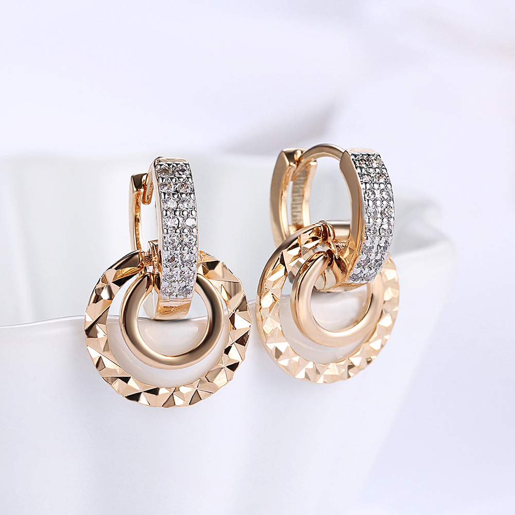 Fashion Earrings For Women Trendy Wedding Jewelry Dropshipping Wholesale Gold Color