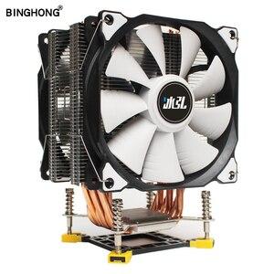 Лучший кулер для процессора BINGHONG, 6 тепловых трубок, охлаждение компьютерного процессора 12 см, вентилятор для процессора RGB, радиатор для LGA ...