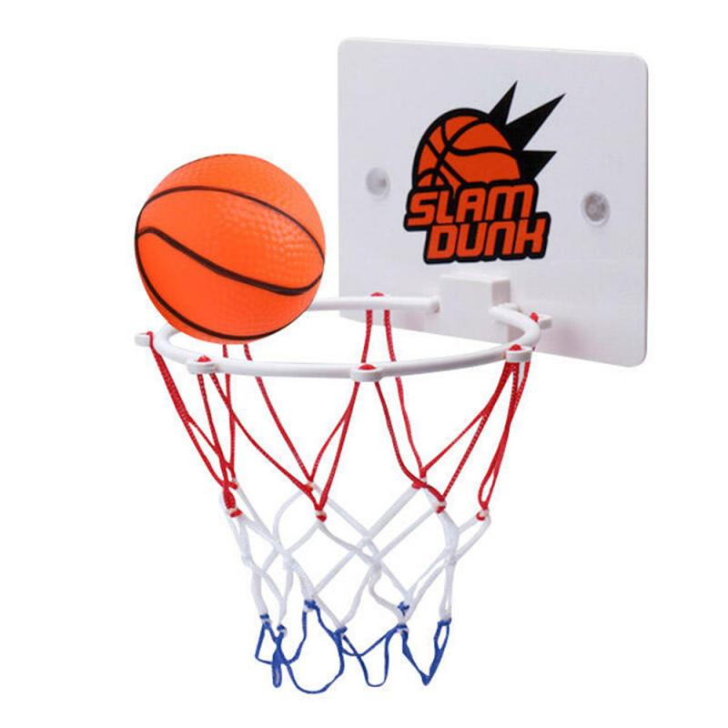 Children's Mini Basketball Hoop Toy Indoor Outdoor Sport Wall Hanging Basketball Ring Newly Suck Wall-mounted Stand With PumpToy 1