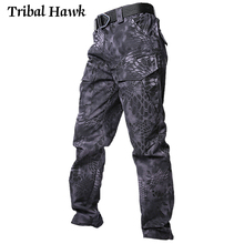 Men Tactical Pants Military Camo Cargo Trousers Male Army SWAT Combat Paintball Many Pockets Camouflage Waterproof Pants