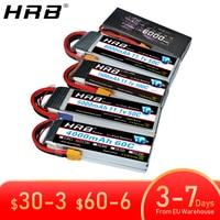 Europa almacén HRB batería Lipo 2S 3S 4S 5S 6S 2200mah 5000mah 3300mah 1500mah 7,4 V 11,1 V 14,8 V 22,2 V T decanos XT60 XT90 EC5