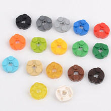 2x2 короткие круглые кирпичи, блоки, сделай сам, просвечивающие, MOC, пластиковые строительные блоки, детали, совместимые с Legoe, блоки, игрушки д...