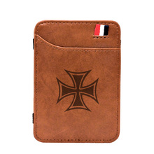 Wallets Cash-Holder Money-Clips Templar Card-Purse Small Gift Classic Cool Thin Vintgae