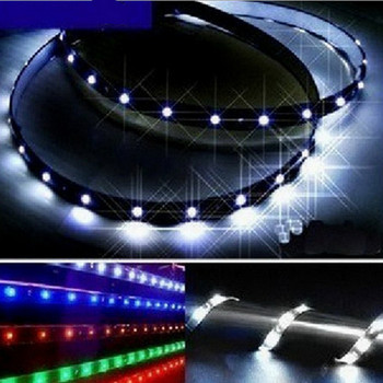 5 color 30cm 15 LED strip 5050 3528 DC 12V waterproof flexible light DIY Tape Daytime Running Lamps Auto Car DRL light Fog lamp image