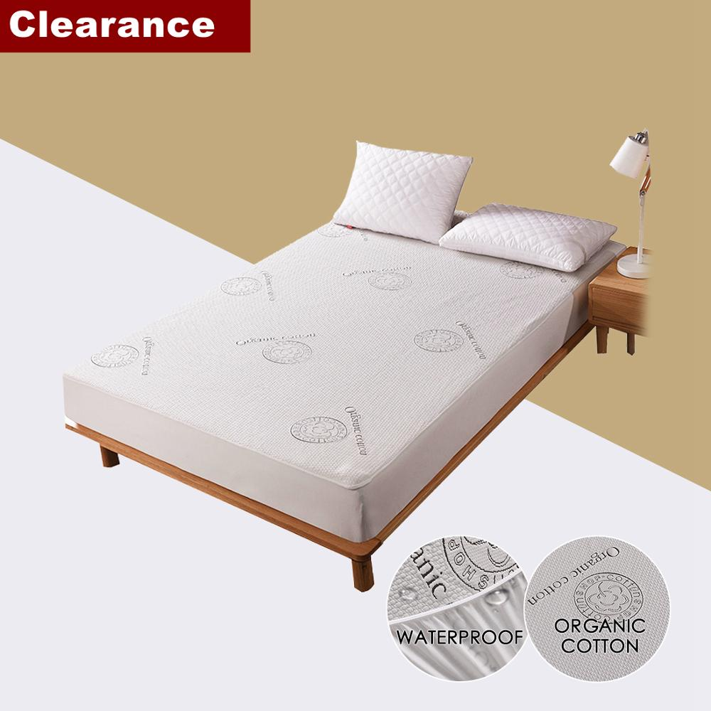 Clearance Sale Organic Cotton Jacquard Waterproof Mattress Cover Bed Mattress Protector for Bed Hotel Wetting colcha de cama Mattress Covers & Grippers     - title=