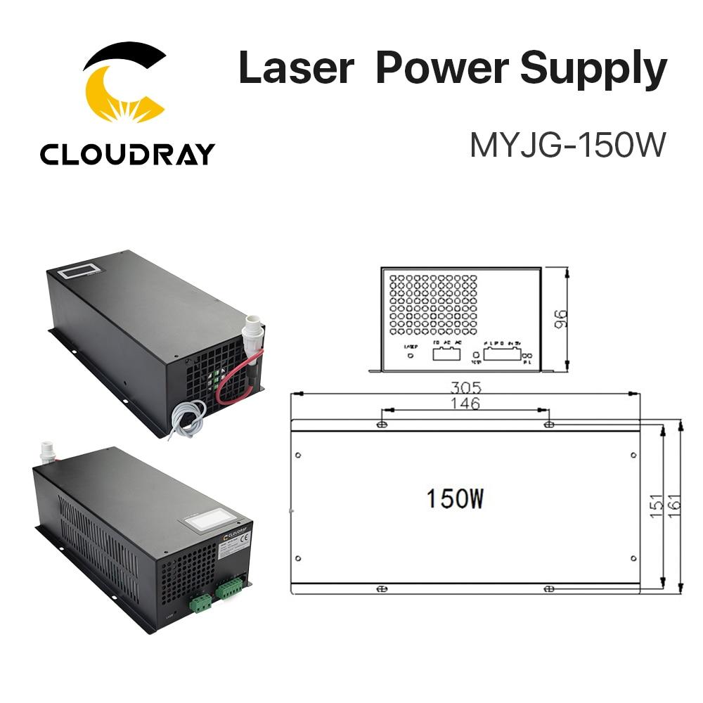 Zasilacz laserowy Cloudray 130-150W CO2 do grawerki laserowej CO2 - Części maszyn do obróbki drewna - Zdjęcie 2