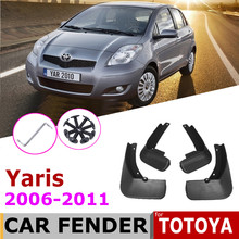Paraspruzzi Parafango Per Toyota Yaris Vitz XP90 2011 ~ 2006 Parafanghi Mud Flap Guard Splash Flap Accessori Per Auto 2010 2009 2008 2007(China)