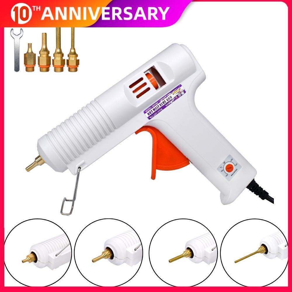 150W 100W EU Plug Hot Melt Glue Gun Professional High Temperature Adjustable Graft Repair Tool Electric Heat Gun DIY Thermo Tool