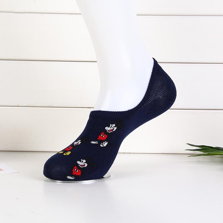 Disney Men's Boat Socks Fashion Cartoon Mickey Simple Shallow Mouth Socks Wild Invisible Socks 3