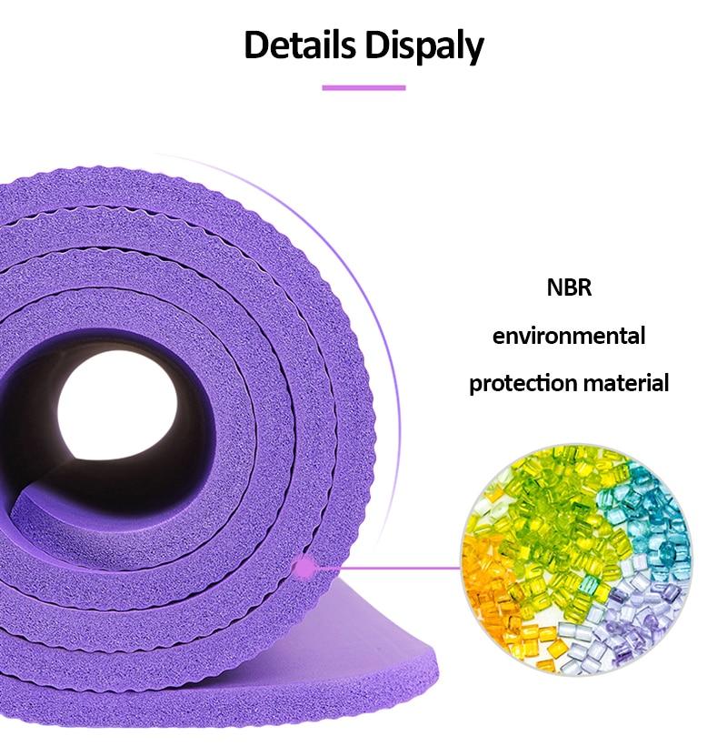 10mm Yoga Mat for Beginner with Position Line Non-slip Gym Yoga Mat Thicken Widen Men Women Yoga Exercise Dance Fitness Mat 14