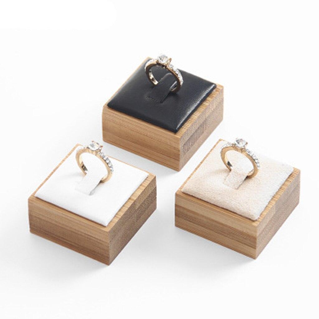 Fashion Ring Bracelet Jewelry Display Stand Holder Showcase Organizer Case Box