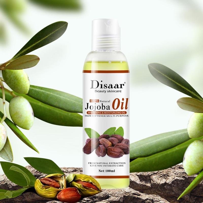 Disaar Natural Organic Jojoba Oil Massage Skin Care Relieve Stress Relaxing Moisturizing Brighten Tone Essential Oil 100ml