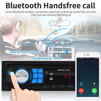 12V Car Radio FM Radio Bluetooth 1din Stereo Player Phone Remote Control SD USB AUX MP3 Player Auto Radio Screen image