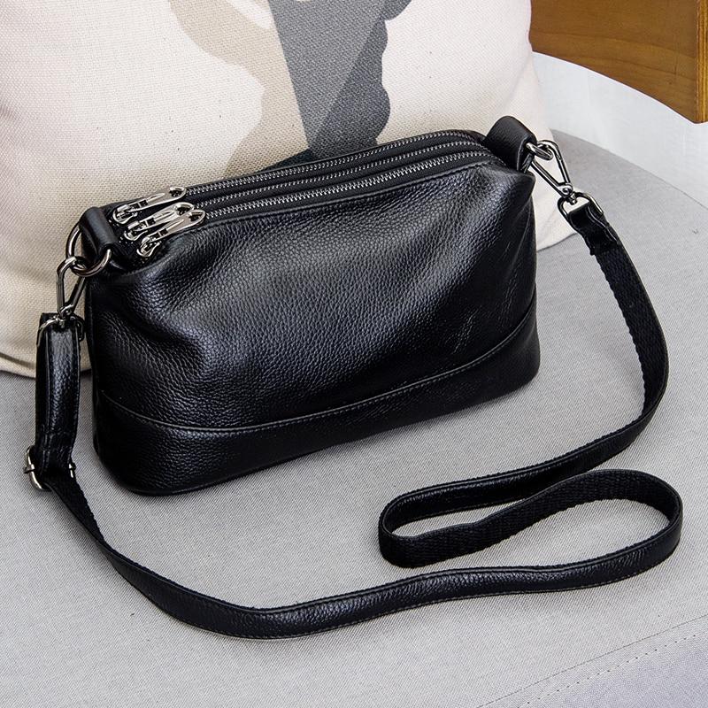Luxury Handbags Totes-Bag Shoulder-Bag Arliwwi Female Genuine-Leather Women's Fashion