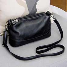 Women Bag Crossbody-Bags Wide-Shoulder-Strap Small Female Genuine-Leather Fashion Famous-Brand