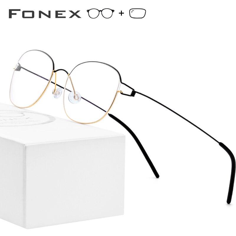 Alliage de titane optique lunettes de vue cadre hommes lunettes coréen danemark femmes marque concepteur myopie sans vis lunettes