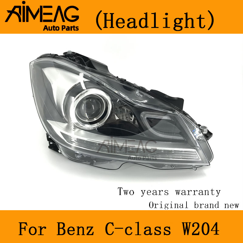 Made For  BENZ C-CLASS W204 Half Assembly Headlight Full Headlights Headlamp C180 C200 C260
