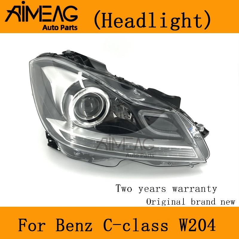 Made For  BENZ C-CLASS W204 Half Assembly Headlight Full Headlights Headlamp C180 C200 C260