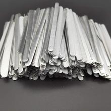 100шт/мешок клей металл плоский алюминиевый нос прокладок моста провода зажимы галстуки для DIY изготовление масок 85x5x0.5мм