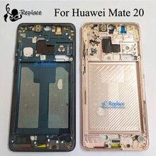Używane oryginalne dla Huawei Mate 20 HMA TL00 HMA AL00 HMA LX9 obudowa przednia płyta podwozia wyświetlacz LCD Bezel płyta czołowa przednia rama