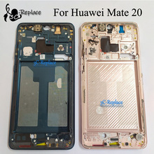 Used Original For Huawei Mate 20 HMA TL00 HMA AL00 HMA LX9 Front Housing Chassis Plate LCD Display Bezel Faceplate Front frame