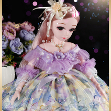 60cm Princess BJD Doll Little Girl Cute Dress 15 Movable Jointed Dolls Toys Fahion Dress Beauty BJD Hair DIY Toy Gift for Girls free shipment royal princess 1 4 18 bjd sd girl long implanted hair dolls baby american girl bjd doll with dress and shoes