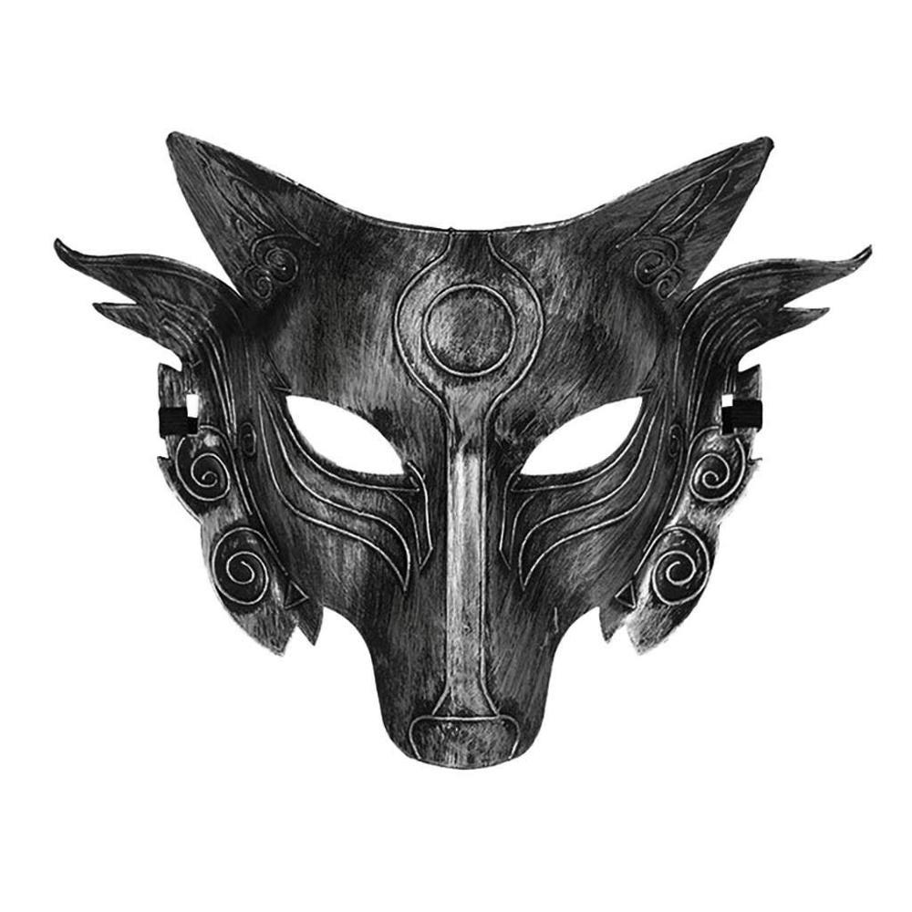 Маскарадный костюм волка на Хэллоуин, маска для лица для мужчин, женщин и мужчин, подходит для маскарада, карнавала, ролевых игр, вечерние иг...