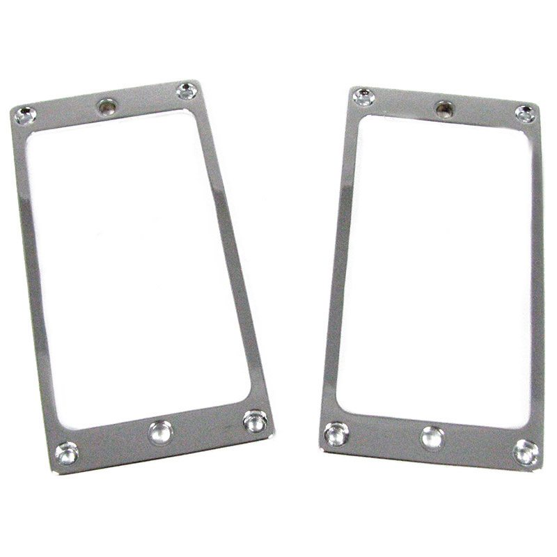 2-pack Silver Full-size Humbucker Cover Plate Rings for Electric Guitars (Flat Profile)