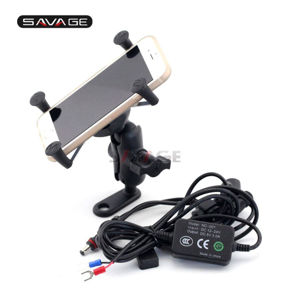 Phone Holder USB Charger For HONDA NC700 NC750 S X CTX700 DCT CTX1300 ST1300 Motorcycle GPS Navigation Mount Bracket X Grip in Covers Ornamental Mouldings from Automobiles Motorcycles
