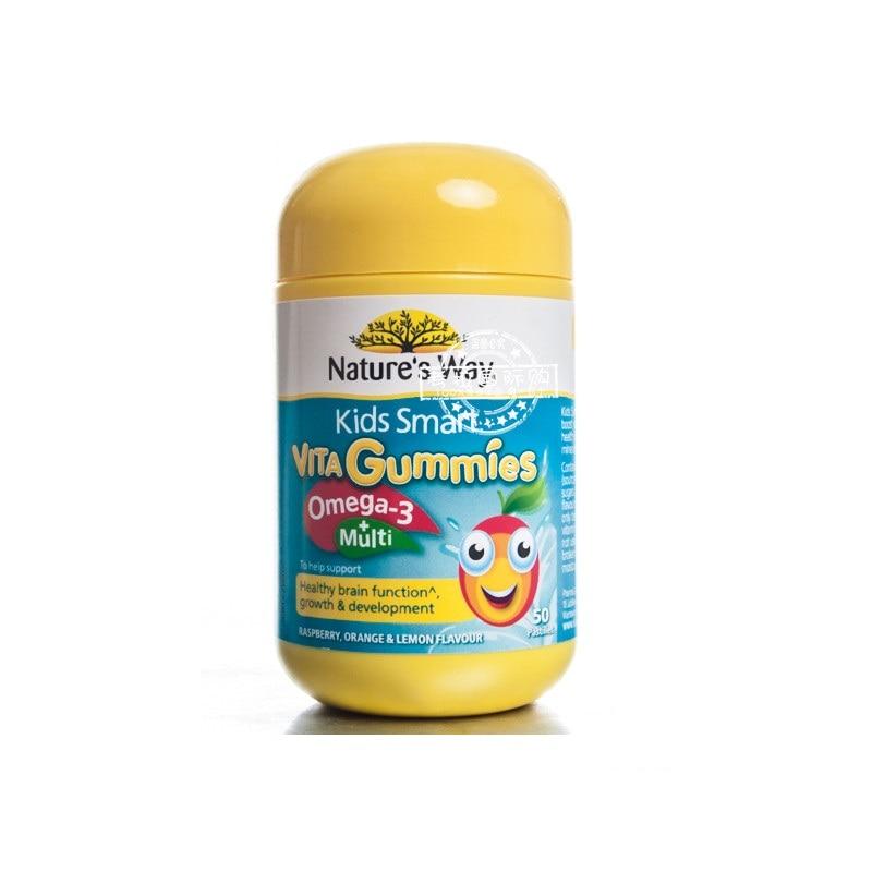 Australia Nature's Way Kids Smart Vita Gummies Omega-3 + Multivitamins 4
