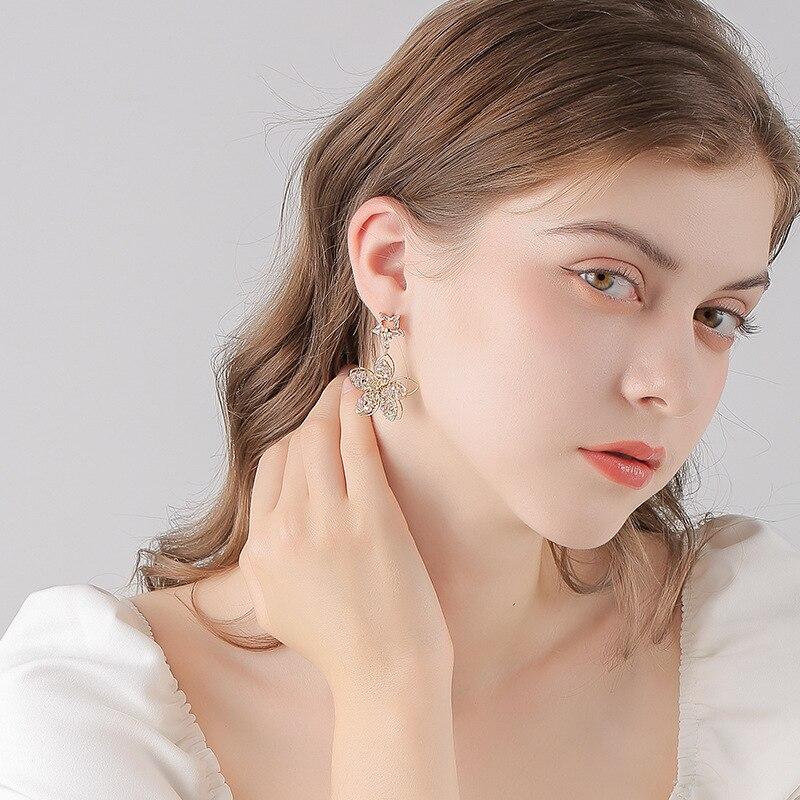 2020 New Fashion Crystal Jewelry Long Dro Earrings For Women Wedding Earing