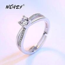 NEHZY 925 sterling silver nuovi monili di alta qualità di modo della donna anello aperto retro taglia regolabile cubic zirconia anello d'argento