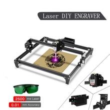 Mini máquina de grabado láser de dos árboles CNC 2500/7000MW, 30x40cm, 2 ejes, enrutador/cortador de madera de escritorio, con gafas láser
