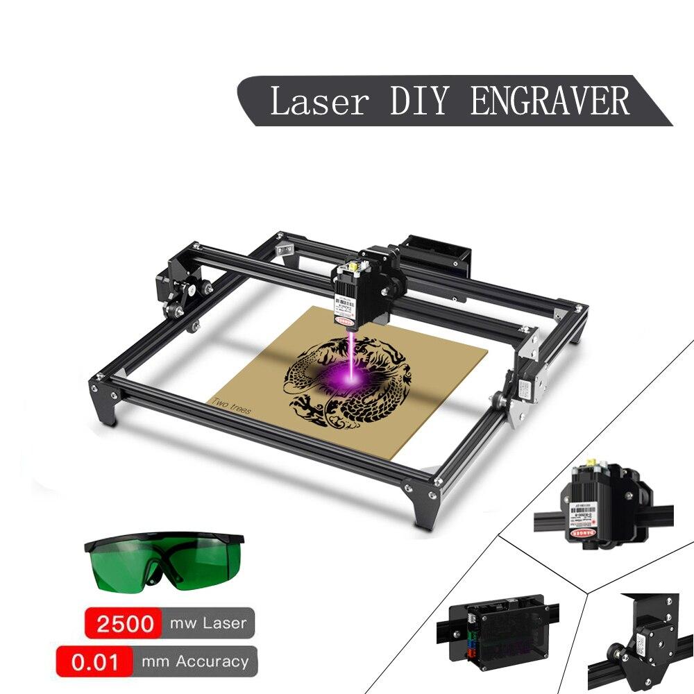 Twotrees Тотем лазерный гравировальный станок с ЧПУ 2500 мвт 5500 мВт 30*40 см Профессиональный DIY Лазерный гравер для рабочего стола, быстроходный де...
