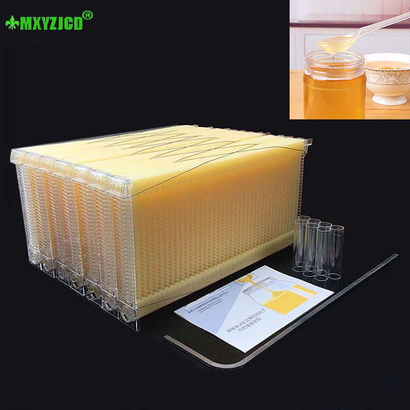 7pcs Automatic Flow Honey Box Plastic Beehive Box Beekeeper Tools Garden Honeycomb Automatic Honey Collection Tool