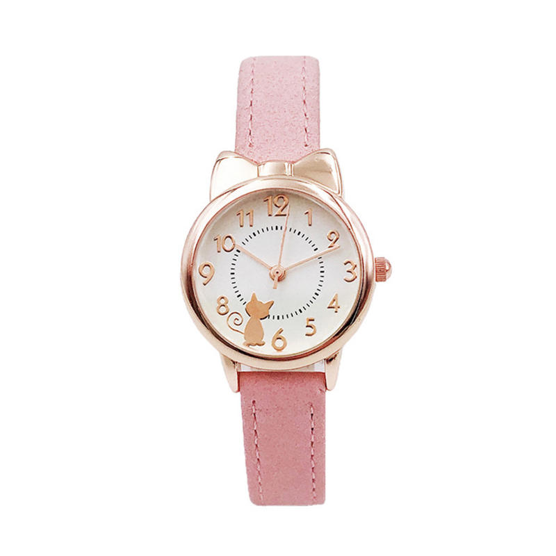 UTHAI CQ04 Kids Children Watch Cat Multi-color Quartz watches clocks for Girls clock